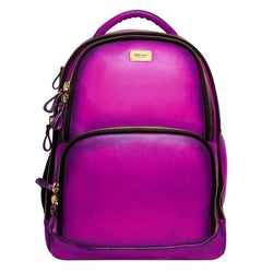 Purple Leather Mod Look Laptop Backpack By Brune