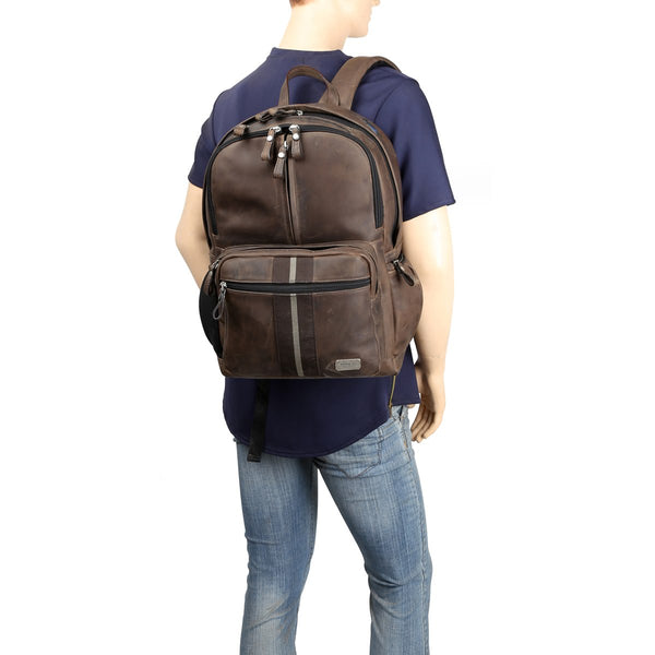 Lebanta | Dark Brown Leather Backpack By Brune