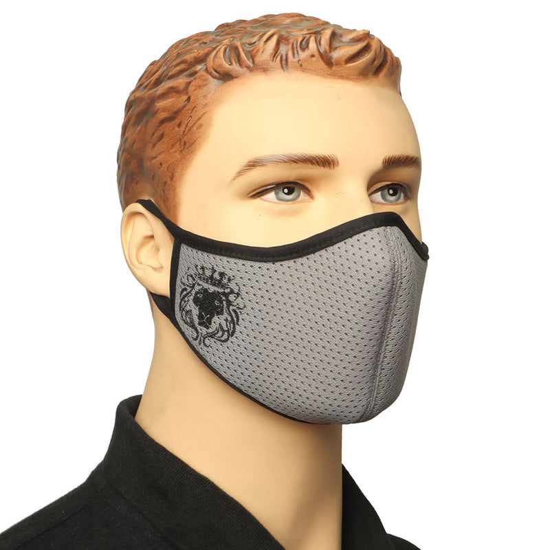 Grey Washable - Reusable Face-to-Nose Mask by BARESKIN
