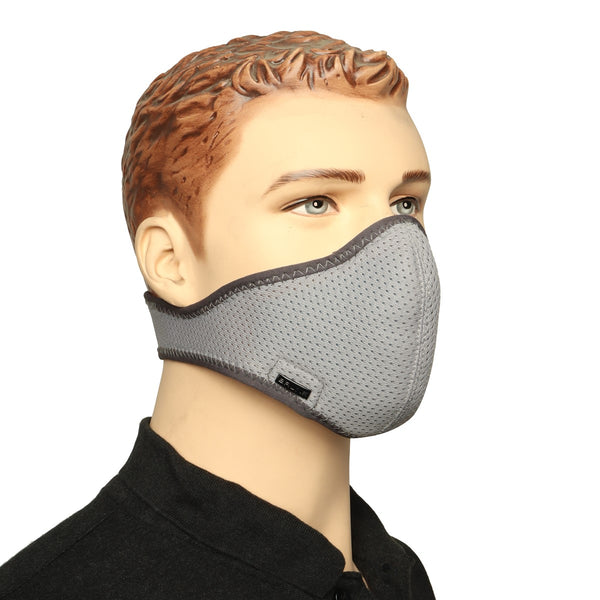 Grey Washable-Reusable Biker Mask by Bareskin