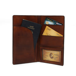 Boarding pass size Long travel wallet with passport and cards space by Brune