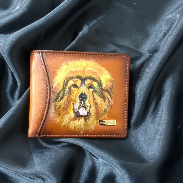 Hand painted Potrait Wallet By Brune