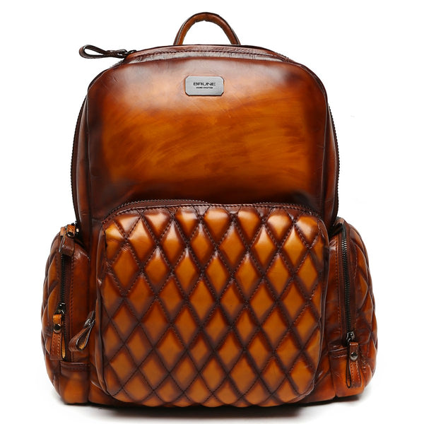 Brune Classic Veg Tanned Leather Backpack/Laptop Bag