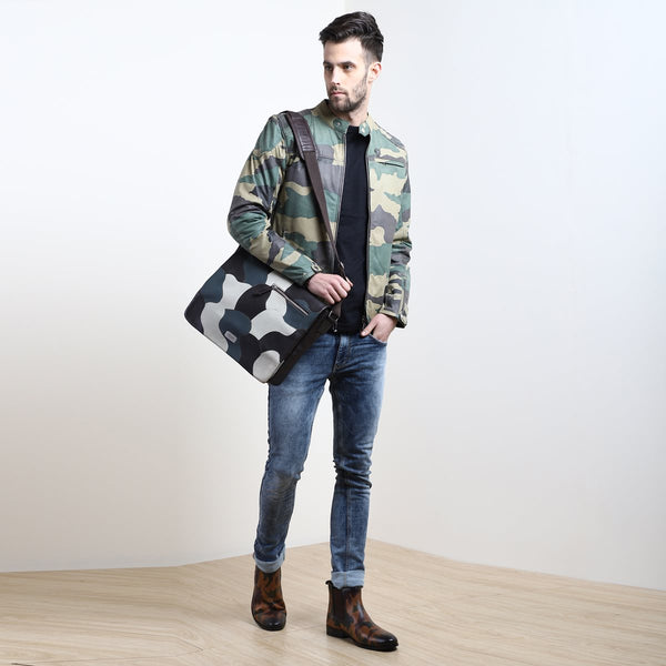 Shade of Camo Combo with Jacket, Messenger Bag and Boots