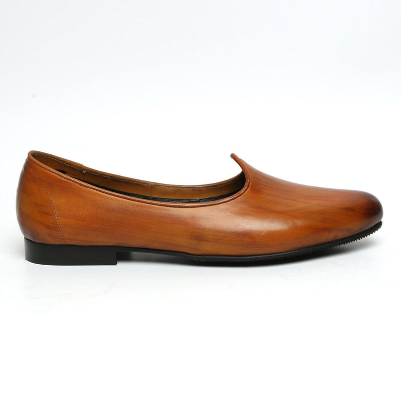 Plain Tan Leather Men Jalsa By Bareskin