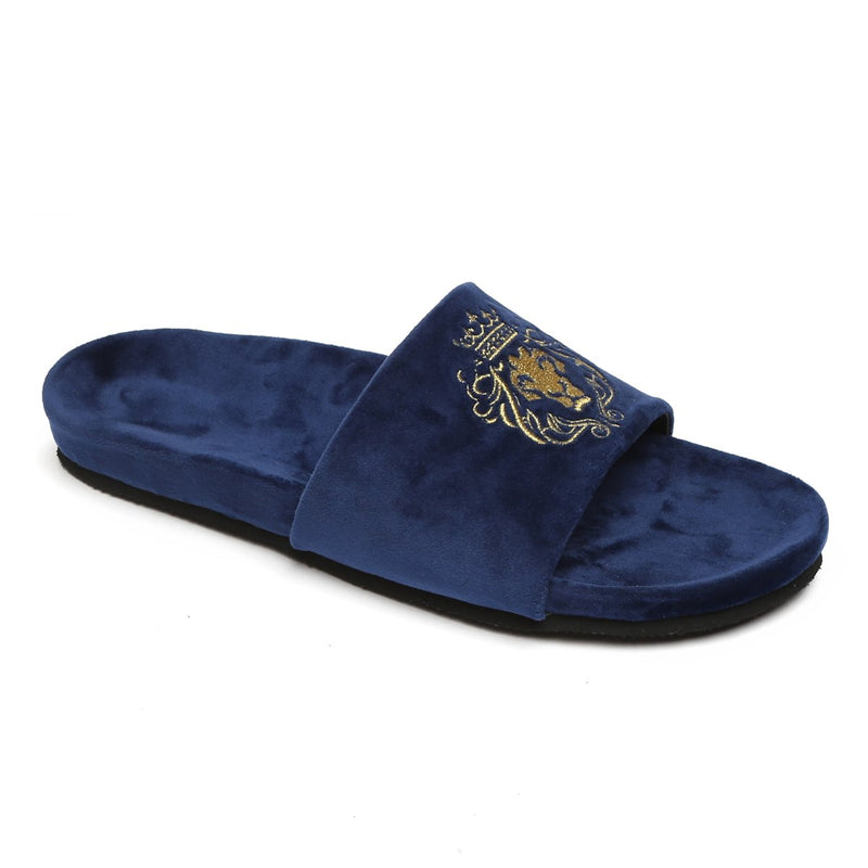 SUPER COMFY BLACK AND BLUE LION SLIPPERS COMBO