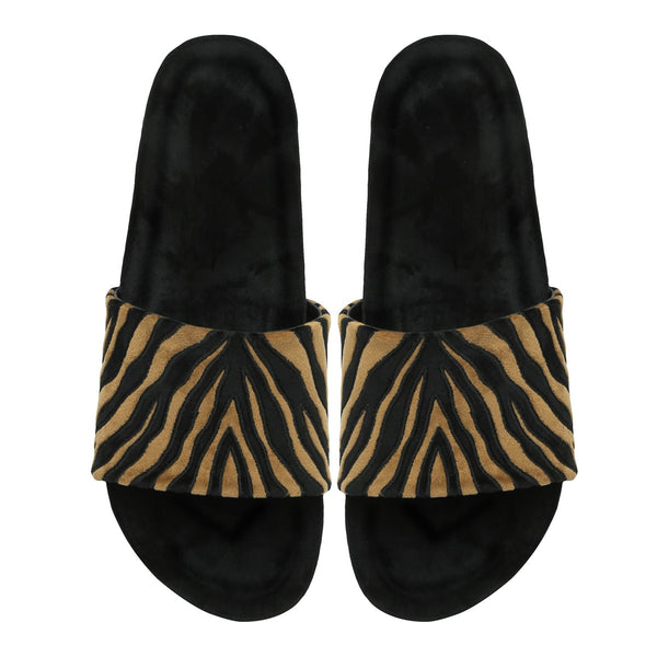 Tiger Styled Elegant Slide-In-Slipper By Bareskin