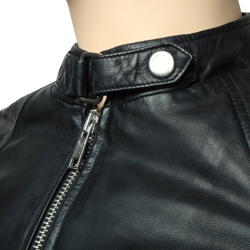 Black Leather Modern Look Jacket By Bareskin