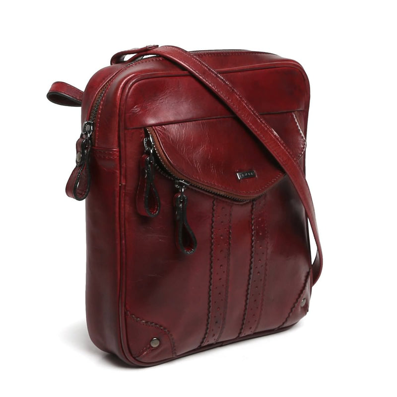 Combo Of Strolley, Backpack, Duffle, Crossbody & Slipons In Monty Wine Leather By Brune