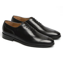 BLACK SLEEK LOOK LACE UP OXFORDS BY BRUNE