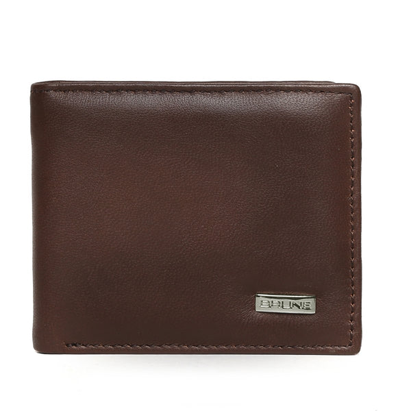 Brown Full Grain Leather Men Wallet By BRUNE