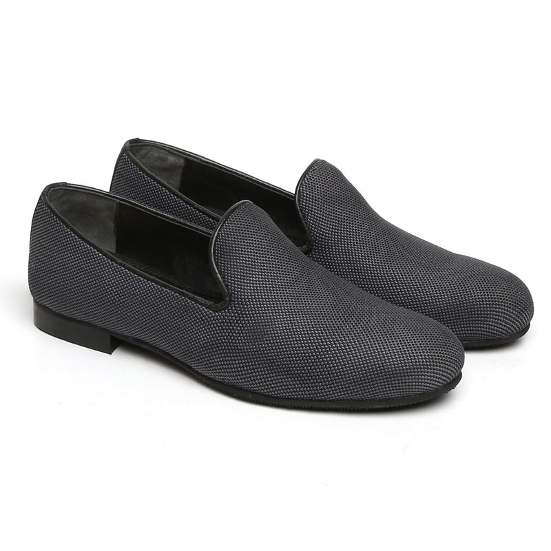 Dark Grey Jute Classic Plain Slip-On By Bareskin