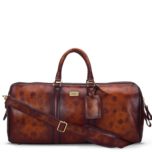 Brune Veg Dark Brown Aesthetic Hand Painted Leather Duffle
