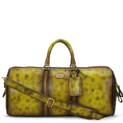 Brune Veg Olive Aesthetic Hand Painted Leather Duffle