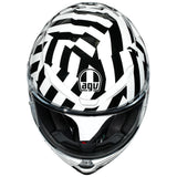 AGV K6 SECRET [BLACK/WHITE]