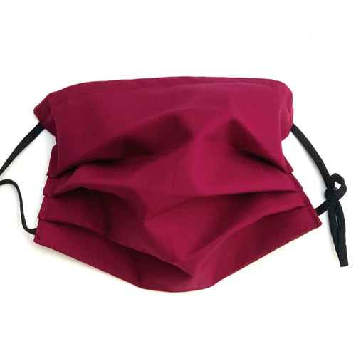Masque ajustable bourgogne - Burgundy face mask