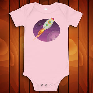 Space Rocket - Baby One Piece