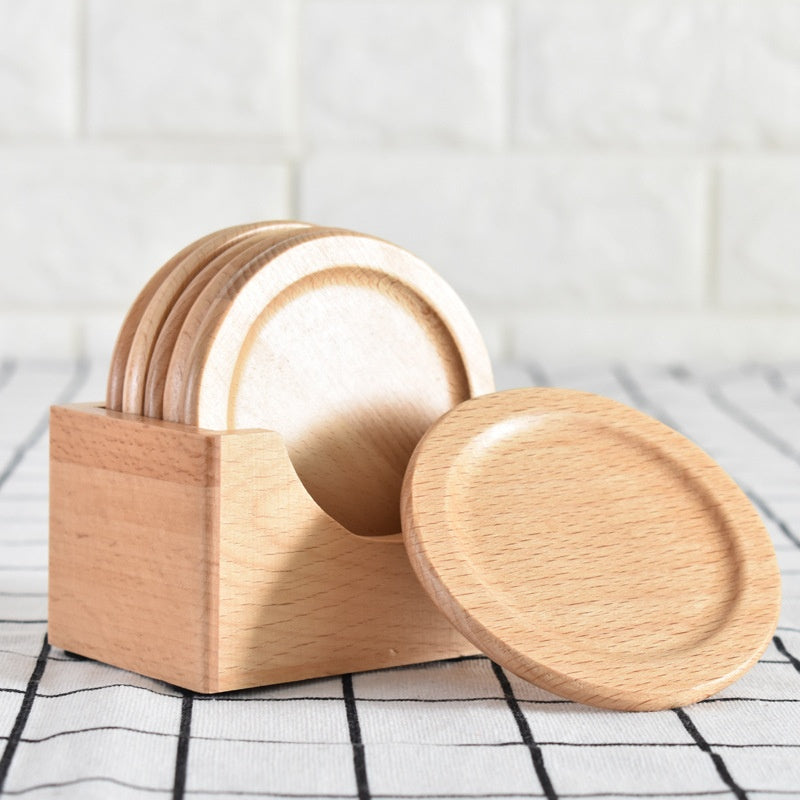 Wooden Coaster Set