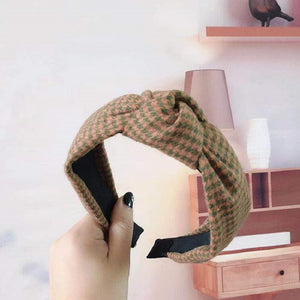 Hounds Tooth Twisted Headband