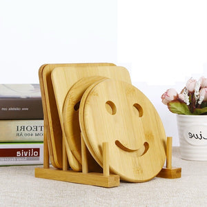 Wooden Trivet Coaster Set
