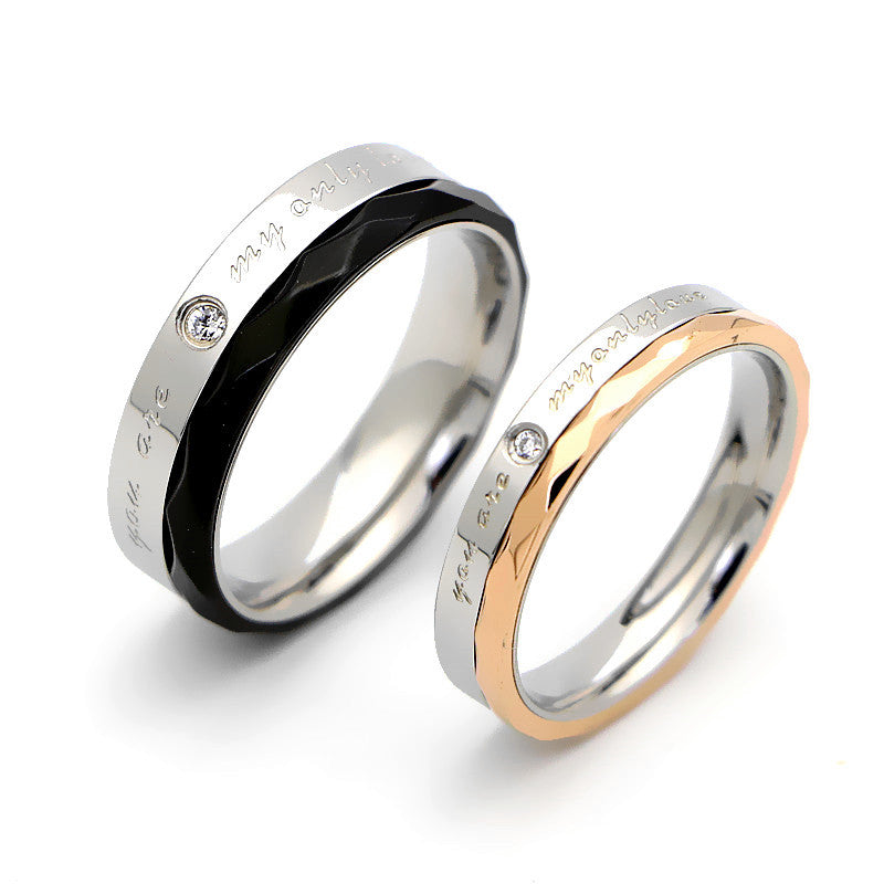 """You Are My Only Love"" Couple Ring"