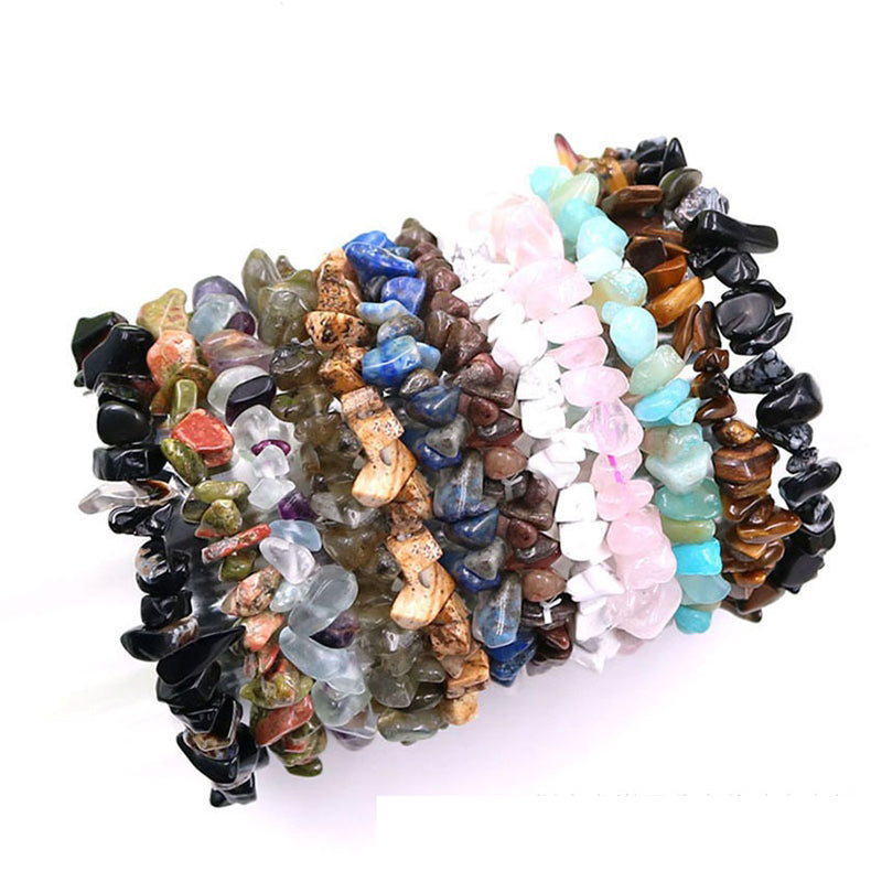 Colored Crushed Crystals Bracelet