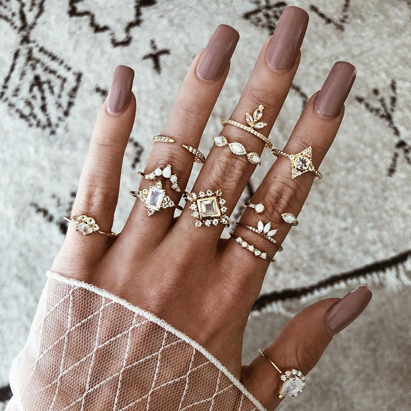 Tayla Vintage Ring (12 Pieces/Set)