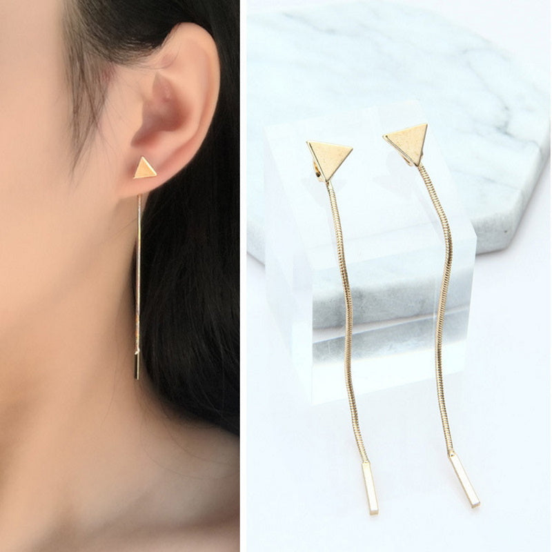 Triangle Simple Chain Earrings
