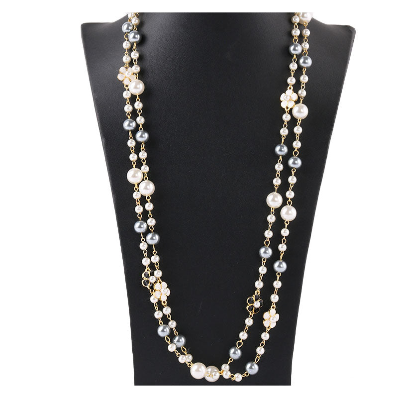 Grissele Pearl Chain Necklace