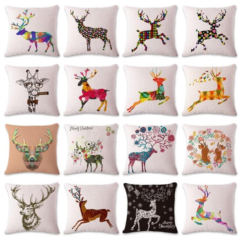 Antler Throw Pillow Cover
