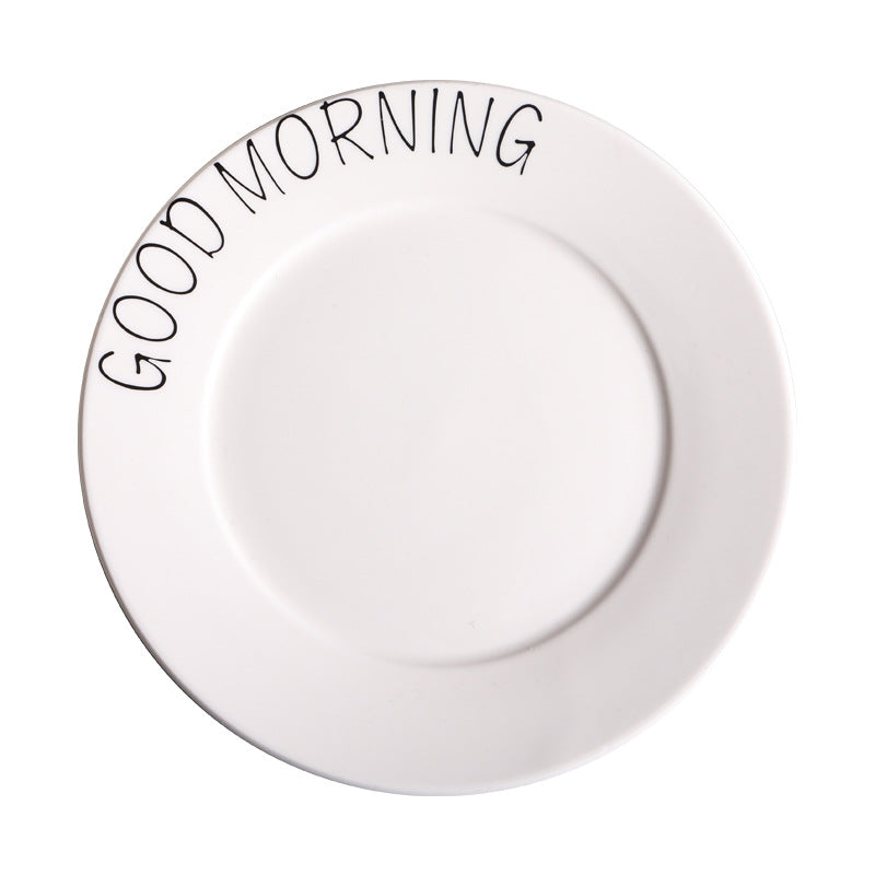 """Good Morning"" Round Plate"