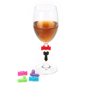 Silicone Bow Tie Wine Charms
