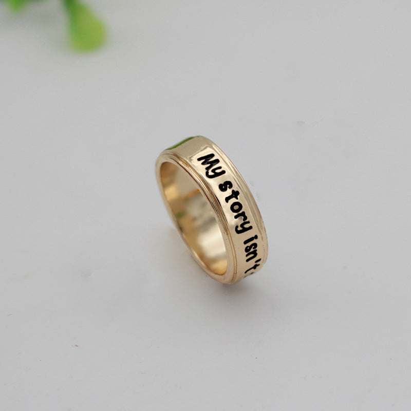 """My Story Isn't Over Yet"" Ring"