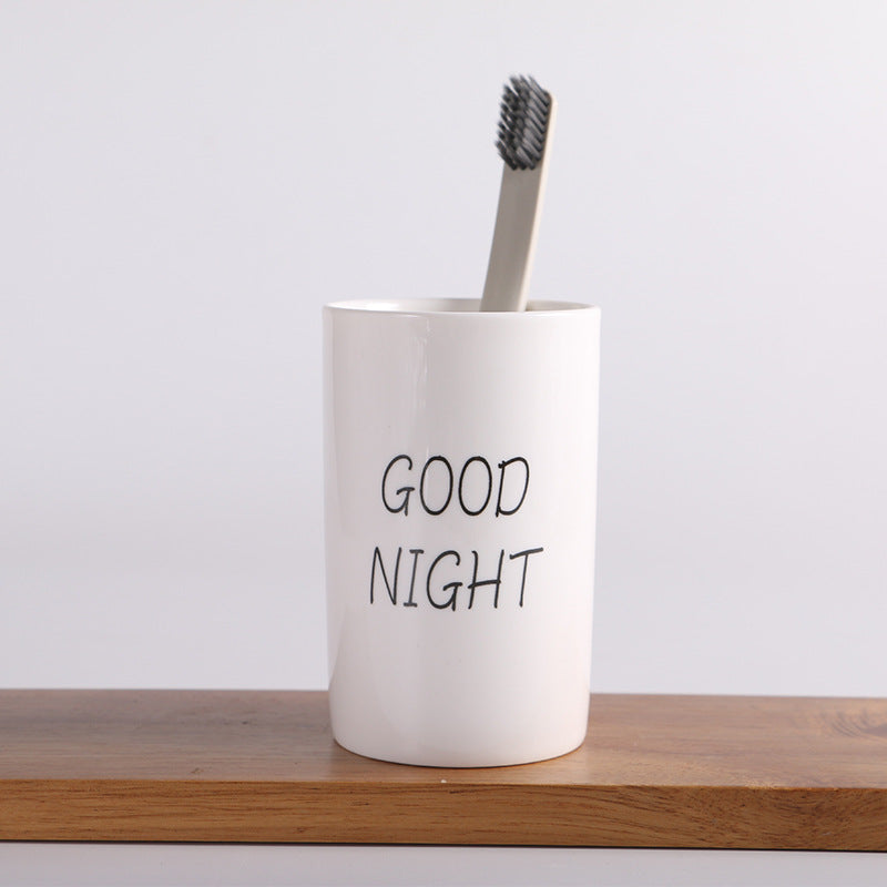 """Good Morning"" Toothbrush Cup"