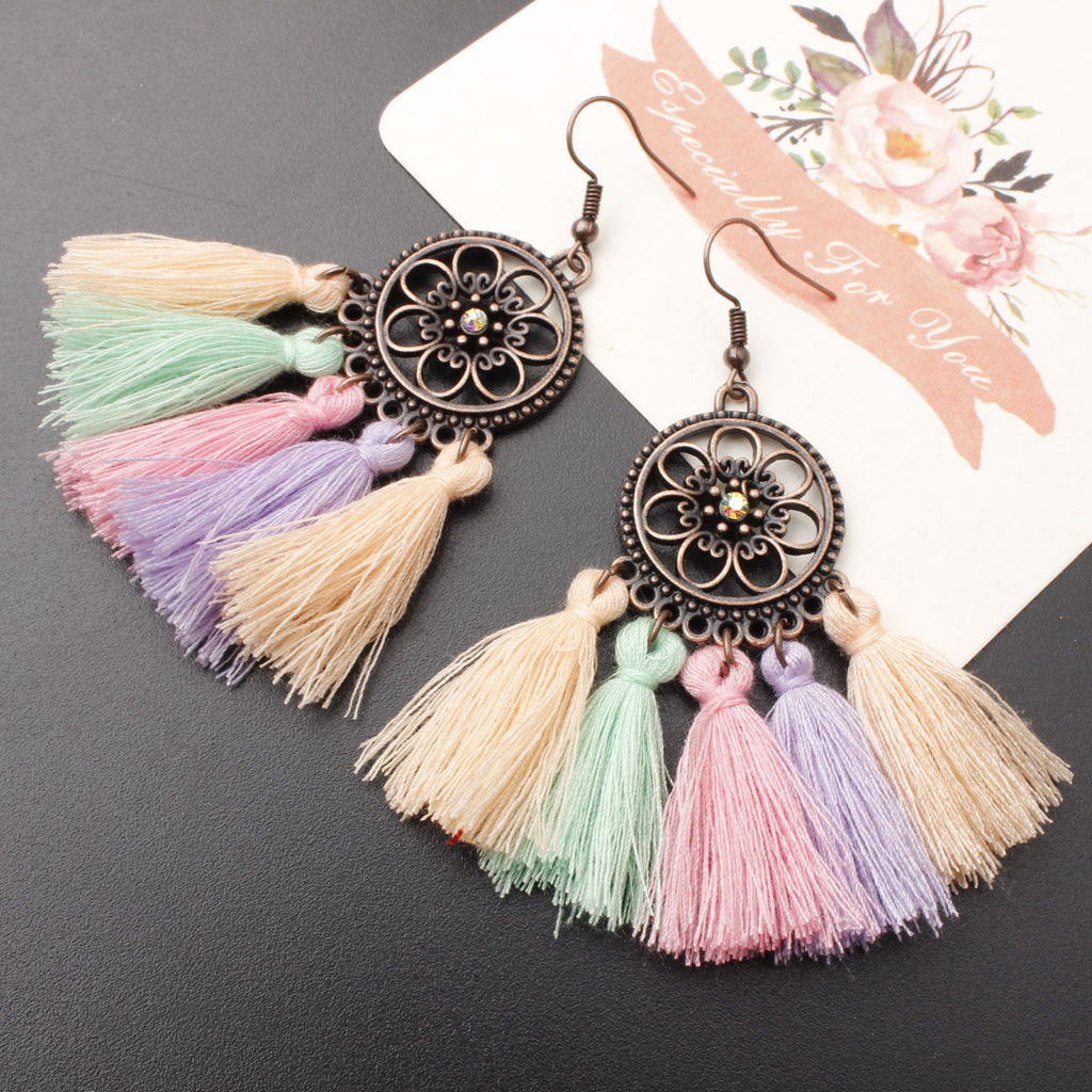 Aiba Boho Tassel Earrings