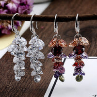 Grape-string Gemstone Earrings