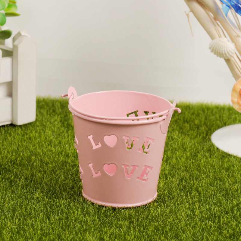 """Love"" Small Iron Wedding Candy Bucket"