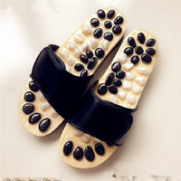 Natural Black & White Pebble Massage Sandals