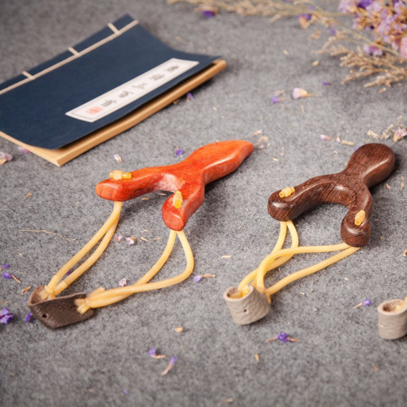 Wooden Handle Slingshot