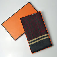 Men's Cashmere Jacquard Steed Long Scarf