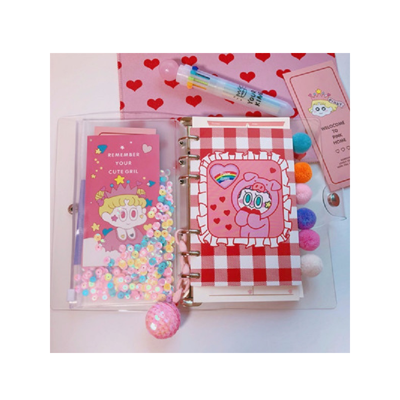 Girly Sequin Mini Notebook