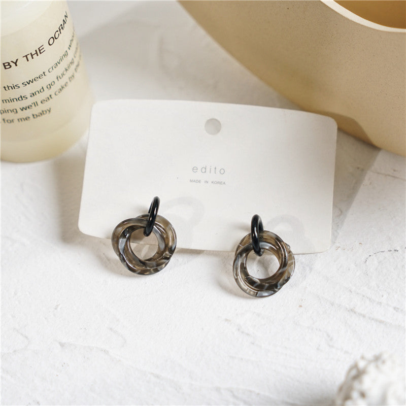 Multi Ring Acrylic Earrings
