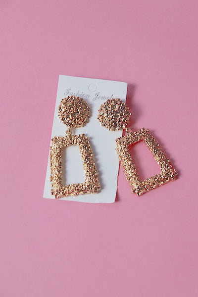 IREN GOLD VINTAGE STATEMENT EARRINGS - IvyEkongFashion