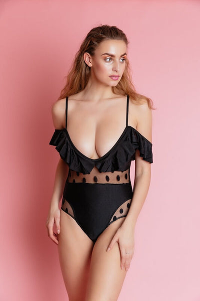 ANGUILLA BLACK ONE PIECE SWIM WEAR - IvyEkongFashion