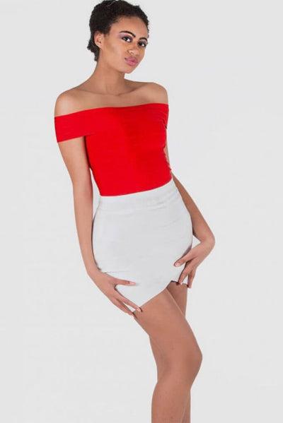 TSHIMA WHITE MINI BANDAGE SKIRT - IvyEkongFashion