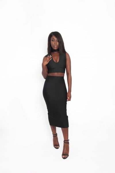 NEWYORK BLACK TWO PIECE SETS - IvyEkongFashion