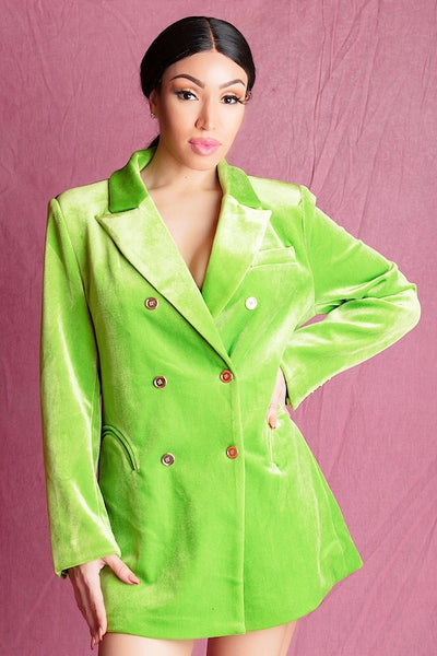 MARIE GREEN BLAZER DRESS - IvyEkongFashion