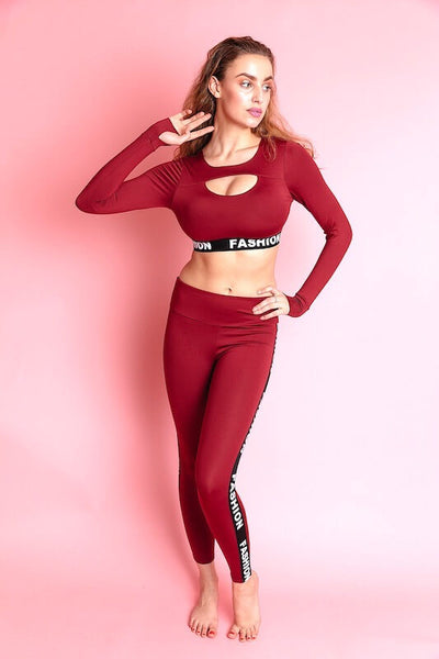AYA OXBLOOD GYM SETS - IvyEkongFashion