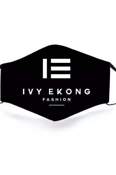IEF LOGO FACE MASK WITH FILTER - IvyEkongFashion