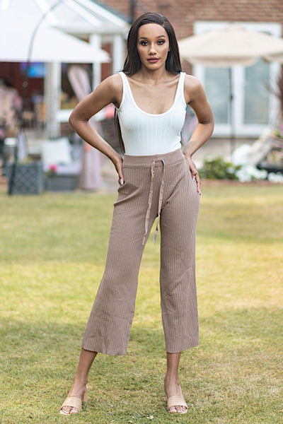 CHRISSY LIGHT BROWN  LOUNGE TROUSER - IvyEkongFashion